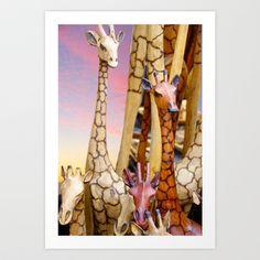 Longnecks Art Print by crismanart Manipulation Photography, Art Prints, Artwork, Painting, Photos, Design, Art Impressions, Work Of Art, Auguste Rodin Artwork