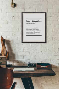 Fauxtographer Definition Digital Print Funny by AYAKAstudio