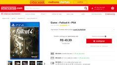 [AMERICANAS] Fallout 4 PS4 R$43,99 - cupom + frete