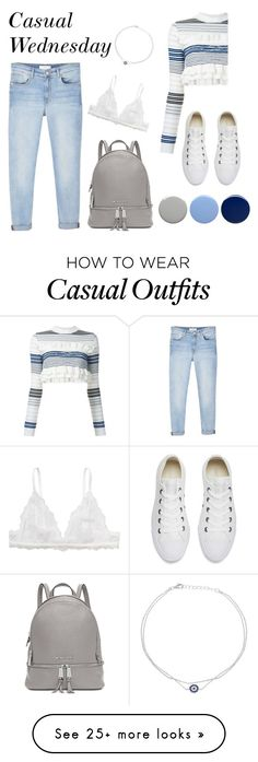 """""""Casual Wednesday"""" by ivanainna on Polyvore featuring MANGO, STELLA McCARTNEY, Monki, Converse, Michael Kors, Lord & Taylor and Burberry"""