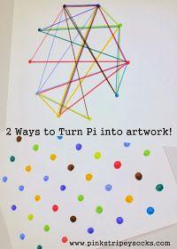 two ways to turn Pi into artwork- pi day activity Pi Art, Math Classroom, Classroom Activities, Future Classroom, Classroom Ideas, 7th Grade Math, Arts Integration, Math Games, Fun Math