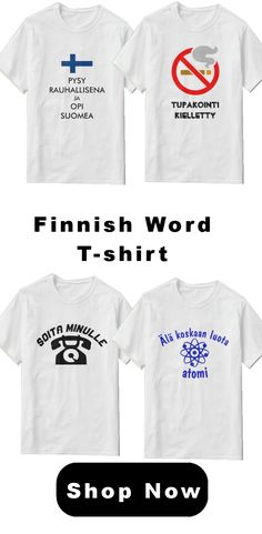 Finnish word sentence language t-shirt. Trendy, cool and unique t-shirt for yourself or as a gift. Finnish Words, Word Sentences, Opi, Language, Unique, Gift, Mens Tops, T Shirt, Supreme T Shirt