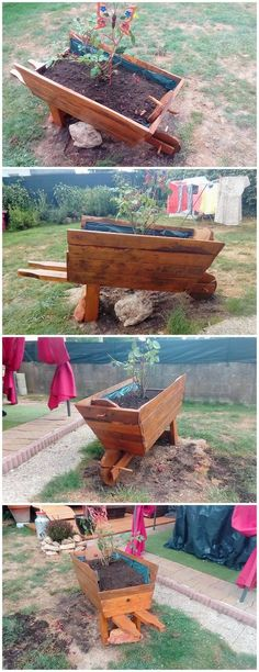 Creative DIY Wood Pallet Ideas for This Summer Pallet Wheel Barrow Planter Look around you! You will find yourself crowded with the thousands or w. Round Wood Table, Wood Table Rustic, Reclaimed Wood Desk, Old Wood Projects, Pallet Projects, Pallet Ideas, Garden Projects, Wooden Pallets, Wooden Diy