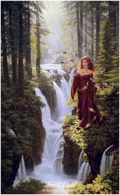 ...an oil painting of the White Queen, Wife to the Red King, basking in the alchemical miracle of their Elemental Union...from Jonathon Art