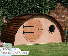 New Backyard Ideas Kids Playhouse Hobbit Hole Ideas Outside Playhouse, Garden Playhouse, Build A Playhouse, Hobbit Playhouse, Indoor Playhouse, Hobbit Hole, The Hobbit, Wooden Playhouse Kits, Childrens Playhouse