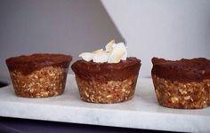 Opskrift på karamelmuffins med chokotop, - uden sukker, mel og smør