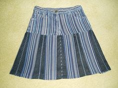 Recycled jeans skirt #2