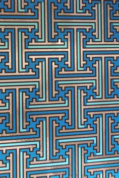 Terminal: traditional Chinese maze-like geometric wallpaper, from Flavorpaper