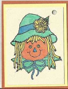 Scarecrow Girl or Boy Tags-Set of Five by inkieannie on Etsy