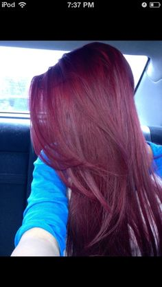 Eggplant hair ❤ I so want to do this!