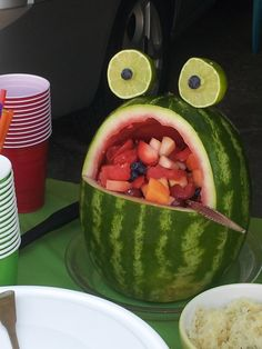 The fruit salad at our Froggie First birthday party