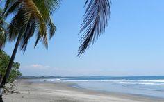 Live in Costa Rica - A beautiful white-sand beach near Esterillos in the Central Pacific area