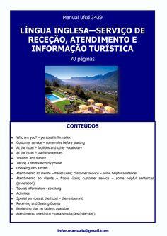 ufcd 3429. Língua inglesa - Serviço de receçao, atendimento e informaçao turística