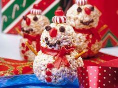 Rice Krispy Snowman Treats! ho-ho-ho