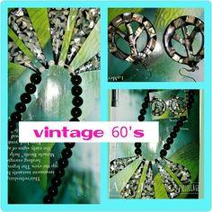 Vtg 60 'Slucite Encased Abalone Necklace