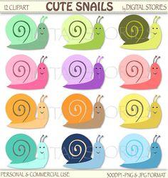 Cute Snails Digital Clipart Rainbow  BUY 2 GET 1 by DigitalStories  https://www.etsy.com/listing/155412989/cute-snails-digital-clipart-rainbow-buy?ref=shop_home_active_18