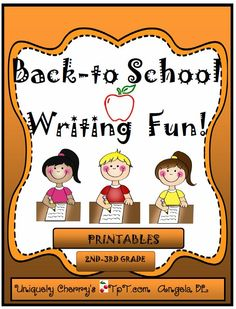 BACK TO SCHOOL WRITING FUN! 40 pages of fun prompts to encourage your students to want to write into the new school year. Some themes are funny and some are thought-provoking,  From the prompts to the writing frames/and more, the doodle face feelings and expressions pages, students should be able to become energized writers and thinkers. http://www.teacherspayteachers.com/Product/BACK-TO-SCHOOL-WRITING-FUN-2nd-3rd-gr-1359694