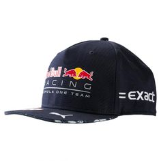 b6bba0f6702aa This flatbrim cap has snapback closure at rear and high density Red Bull  Racing l