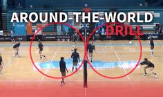 Around-the-world drill to warm up players in every discipline use on days before games