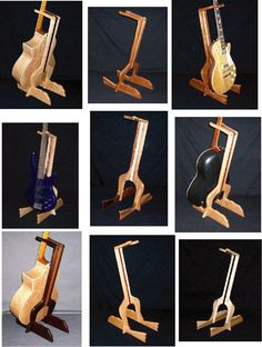 Custom Handcrafted Guitar Stands por ArizonaCondorWood en Etsy