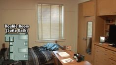 Crumley Hall - Double Room with suite bathroom