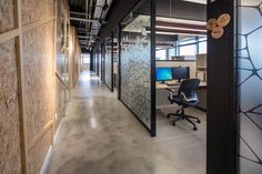 Algotec Offices frosted glass walls