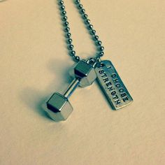 dumbell weight strength jewelry quote I choose by xNextLevelx