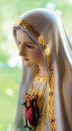 Blessed Mother Mary pray for us. Divine Mother, Blessed Mother Mary, Blessed Virgin Mary, Virgin Mary Art, Virgin Mary Statue, Religious Pictures, Jesus Pictures, Mother Mary Images, Lady Of Fatima