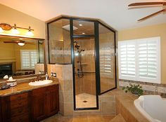 How to Repair and Repaint a Metal Shower Door Frame? Framed Shower Door, Glass Shower Doors, Bathroom Doors, Master Bathroom, Shower Enclosure, Walk In Shower, Atlanta, Home Improvement, Interior Design