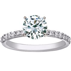 18K White Gold Petite Shared Prong Diamond Ring (1/4 ct.tw.) from Brilliant Earth