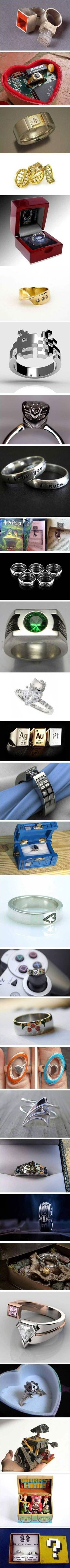 Engagement plans: Doing it right. I would have the Zelda one presented in a case shaped like a triforce