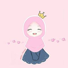 Kawaii Wallpaper, Cartoon Wallpaper, Creative Profile Picture, Hijab Drawing, Islamic Cartoon, Butterfly Clip Art, Anime Muslim, Hijab Cartoon, Cute Cartoon Girl