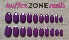 Hand Painted Press On False Nails, Purple, Short Length Stiletto by BufferZoneNails on Etsy https://www.etsy.com/listing/213352460/hand-painted-press-on-false-nails-purple