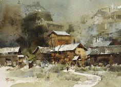 Chien Chung Wei   022 苗寨寫生之二 27.2 x 37.4 cm (8開)