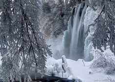 3. Spearfish Falls look beautifully frosty and frozen, making this view magical.