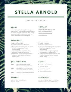 Cv Design Template, Simple Resume Template, Creative Resume Templates, Simple Resume Examples, Resume Ideas, Resume Cv, Free Resume, Graphic Design Resume, About Me Page
