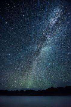 Big Bang!! | explosive starry nightscape, Pangong Lake, Ladakh ...