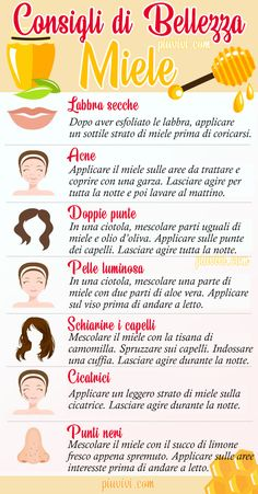 Beauty Tips Using Consigli di Bellezza Usando il Miele Honey: Benefits And Uses For The Beauty Of Leather And Hair. Thanks to its humectant and bactericidal properties, honey is an excellent beauty remedy for skin and hair. Beauty And Beauty, Beauty Tips For Face, Beauty Care, Beauty Skin, Beauty Hacks, Beauty Ideas, Beauty Guide, Face Tips, Beauty Secrets