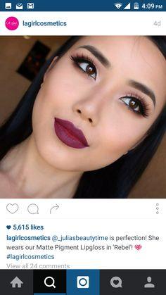 #lip #swatch #lagirl #berry