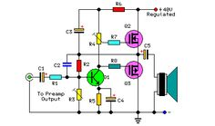 This article briefly describes the 30 Watt Audio Power Amplifier (IRF9530). This principle is easy to understand, but also very practical. Depth understanding of circuit elements, you can better grasp this principle. In this circuit, you can learn about and purchase these components: IRF9530 , IRF530, BC550C, 2N3819, LM317T.