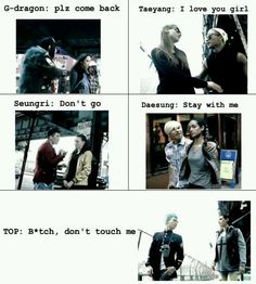 BIGBANG ♡ G-Dragon ,Daesung ,TOP ,Seungri , and Taeyang  LikeaBOSS T.O.P need no women. he loves chair more than opposite sex afterall!