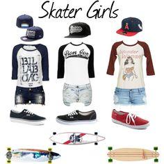 Skater Girls on Polyvore