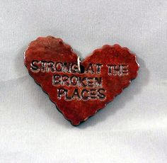OOAK Handmade Deep Red Valentine Heart by ThePotterySyndicate, $10.00