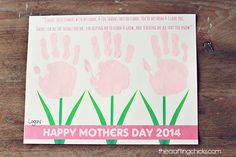 Sweet Mother�s Day Handprint Poem *Free Printable
