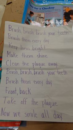 Brush Your Teeth song 2