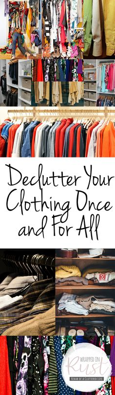 ideas home organization closet clutter for 2019 Clutter Organization, Home Organization Hacks, Organizing Your Home, Clothing Organization, Organizing Ideas, Organising Hacks, Decluttering Ideas, Clothing Storage, Getting Rid Of Clutter