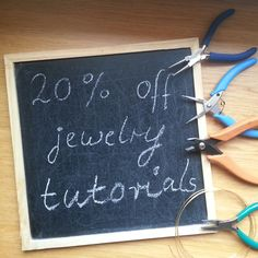 20% discount on all jewelry tutorials in my shop with coupon code: TUTORIALSALE20 DIY your Christmas presents or wedding jewelry. Deal of the week...valid until Nov 4th only. Watch out for the next deal of the week from HelenaBausJewellery Diy Jewelry Kit, Diy Jewelry Tutorials, Diy Jewellery, Wire Jewelry, Jewelry Patterns, Christmas Presents, Coupon Codes, Wedding Jewelry, Beautiful Things