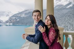 Thinking about visiting Lake Louise in October? See more of this amazing magical snowy Lake Louise engagement session to convince yourself that late fall is the best time to visit the Canadian Rockies! Mountain  engagement photo inspiration. Lake Louise engagement photographer. Best places for mountain engagement photos. Where to do engagement photos in Banff National Park. Rocky Mountain elopement photographer. Lake Louise wedding photographer. Mountain Engagement Photos, Mountain Elopement, Engagement Photography, Engagement Session, Photography Ideas, Couple Portraits, Wedding Portraits, Engagement Photo Inspiration, Canadian Rockies