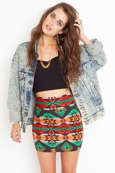 azteca skirt <3 ( we used this skirt in a fashion show! don't be fooled this skirt is sold for $50. you can find this EXACT skirt and brand on Harwin for $9.99)