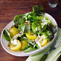 Few farmers in the West grow greengages, but if you get them, celebrate their honey-sweet flavor in Greengage Plum Salad with Mint and Pistachios. White peaches make an excellent substitute. Pistachio Recipes, Plum Recipes, Raw Food Recipes, Summer Recipes, Wine Recipes, Salad Recipes, Healthy Recipes, Delicious Recipes, Stone Fruit